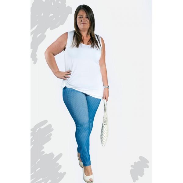 Leggins Isabel G Tejano Motas Moda Joven Tallas Grandes Pantalon Tallas Grandes Tienda Online Tallas Grandes
